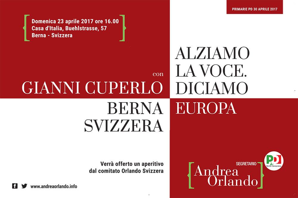 G. Cuperlo a Berna 23.04.2017