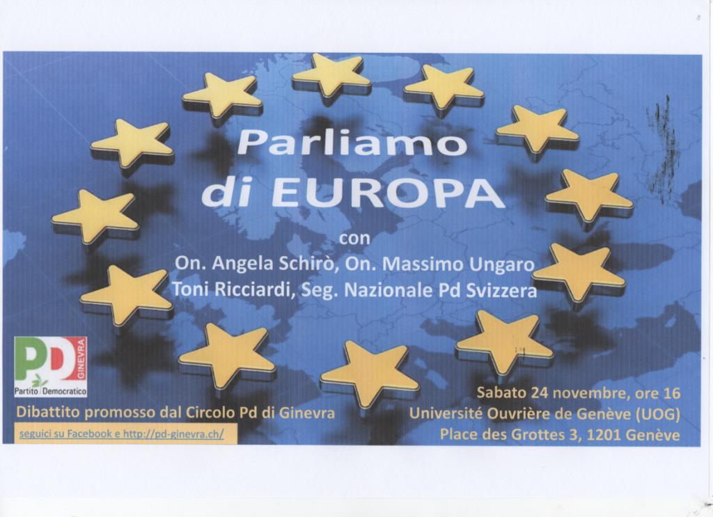 Parliamo di EUROPA 24.11.2018